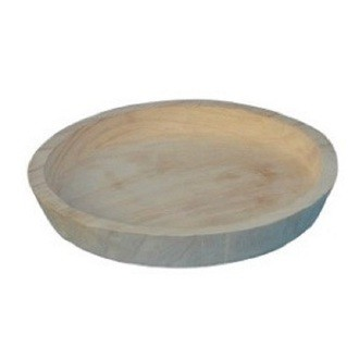 Plateau pour cloche en bois d25xh3cm