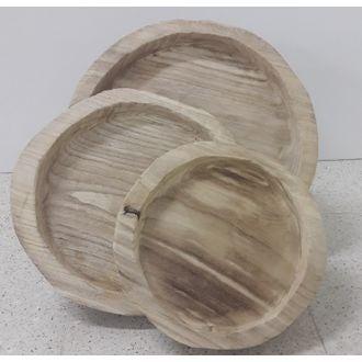Plateau pour cloche en bois d16xh2.5cm
