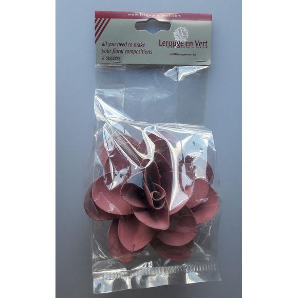 Fleur de décoration de serviette aubergine