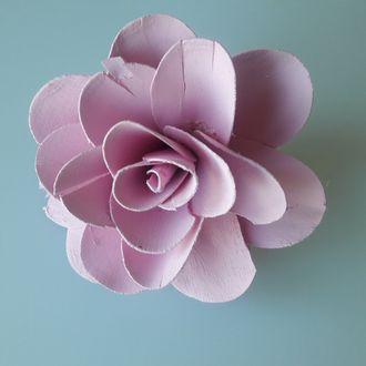 Fleur de décoration de serviette rose clair