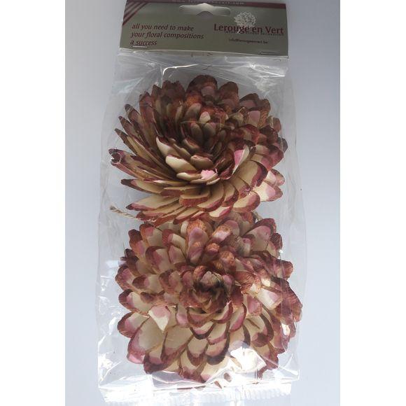 Fleur de décoration de serviette shola bord rose clair