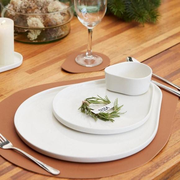 Achat en ligne Set de table en similicuir brun 45x36 cm