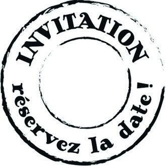 ARTEMIO - Tampon bois rond Invitation la date