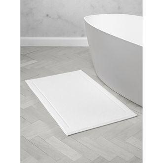 Maom - tapis de bain en éponge blanc 60x100cm 1300g/m²