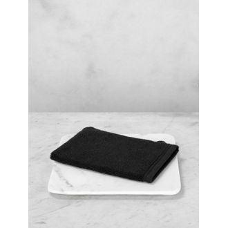 Gant de toilette en coton éponge noir