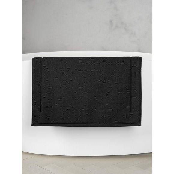 Tappeto da bagno quadrato in spugna di cotone nero 60x60
