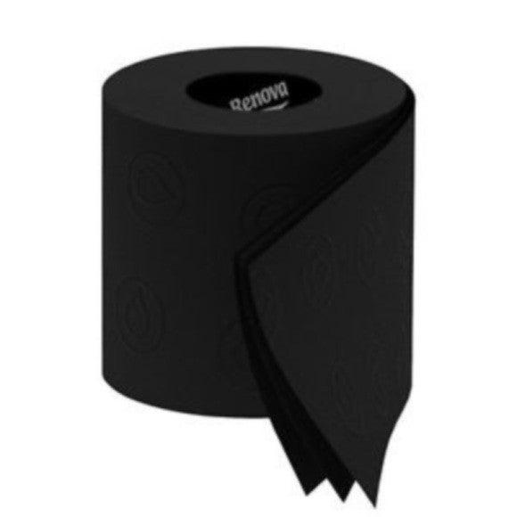 Lot de 6 rouleaux de papier toilette noir