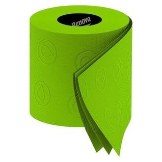 RENOVA - lot de 6 rouleaux de papier toilette vert