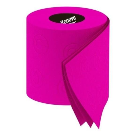 Lot de 6 rouleaux de papier toilette fuchsia
