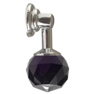 Bouton de meuble pendant en cristal noir Ø3cm