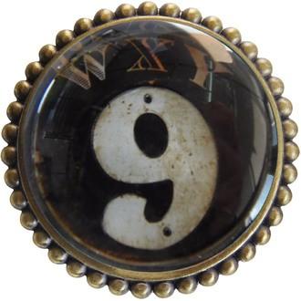 Bouton de meuble vintage à motif 9 D5,4xP3cm