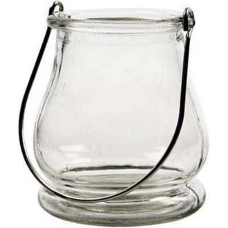 Lanterne en verre transparent H10xD9cm