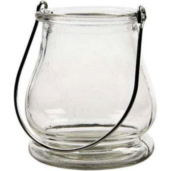 Achat en ligne Lanterne en verre transparent H10xD9cm