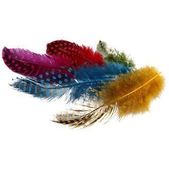 Set de 100 plumes de pintade couleurs assorties 3 g
