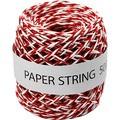 Ficelle de papier rouge et blanc 50m