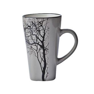 Grand mug arbre gris