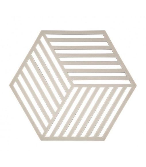 Achat en ligne Dessous de plat héxagone gris pale