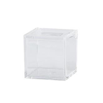 KJ COLLECTION - Boîte à bijoux transparente 5x5x5cm