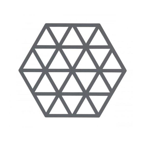 Dessous de plat triangle gris