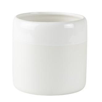 Cache pot céramique mate et brillante blanc ø14xh13cm