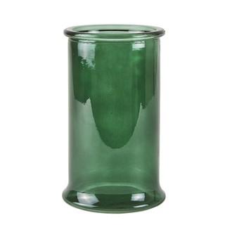 Vase cylindrique en verre vert bouteille ø12,5xh21cm