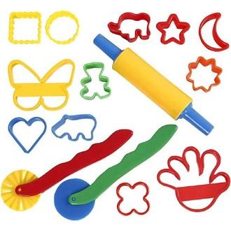 Cutters et outils, dim. 3,5x3,5-7x9 cm, Couleurs assorties, 15pièces