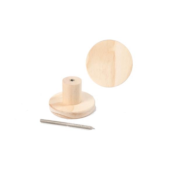 Achat en ligne Patère ronde bois 7x4,5cm