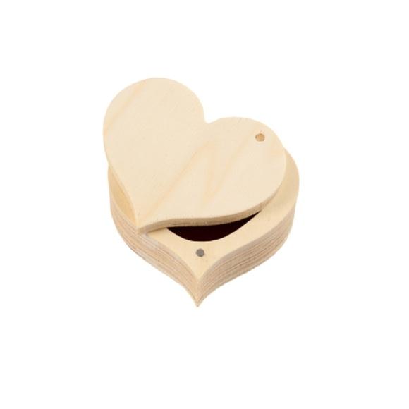 Achat en ligne Boîte en bois cœur 9x4cm