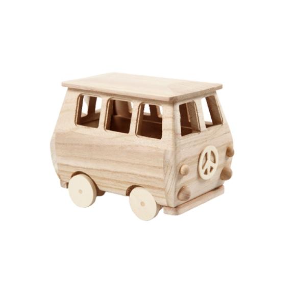 Achat en ligne Minibus bois 17x10x13 cm