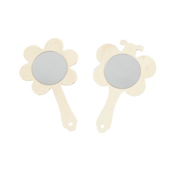 Achat en ligne Miroir à main fleur ou papillon 13,9x9cm