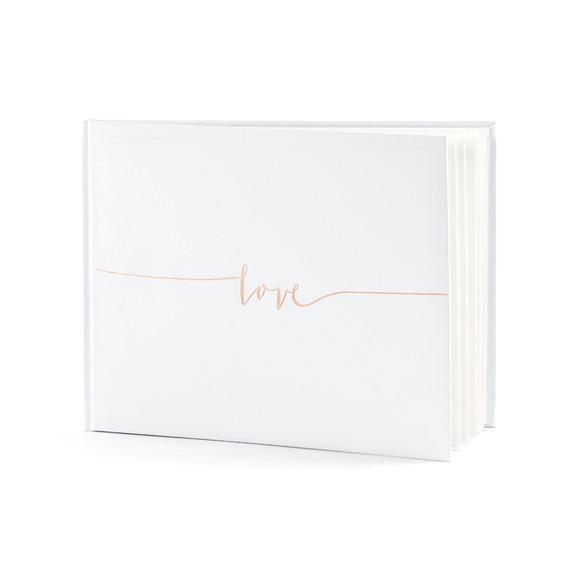acquista online Libro degli ospiti love bianco 24x18,5 22pag