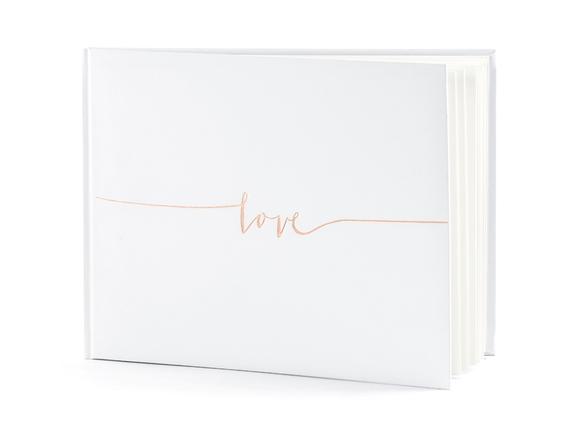 Achat en ligne Livre d'or blanc love, 24x18,5cm 22 pages