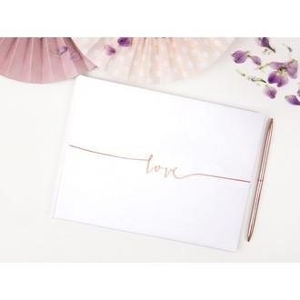 Livre d'or blanc love, 24x18,5cm 22 pages