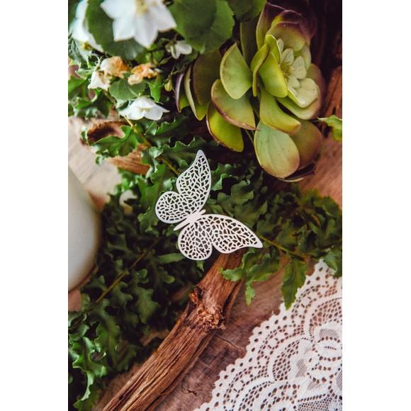 Confettis en papier en forme de papillon large