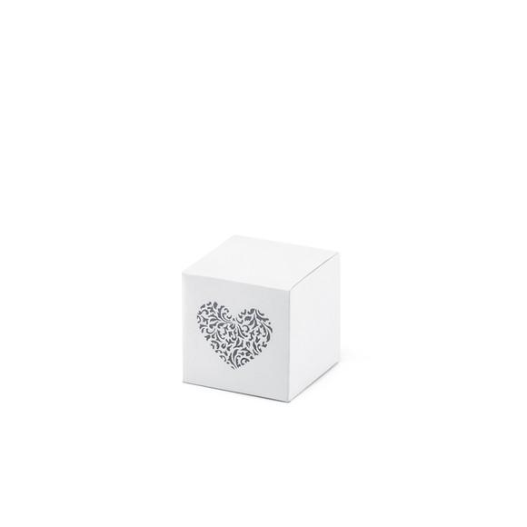 Lot de 10 boites cadeau en forme de cœur