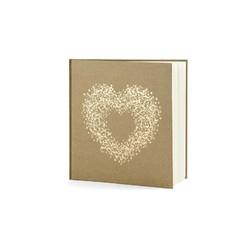 compra en línea Libro de visitas de kraft con un corazón dorado de 22 páginas