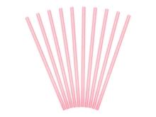 Achat en ligne 10 pailles carton rose clair 19,5cm