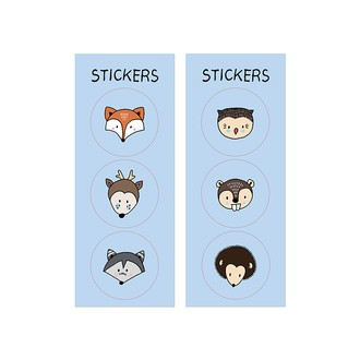Sachets bonbons en kraft avec stickers animaux