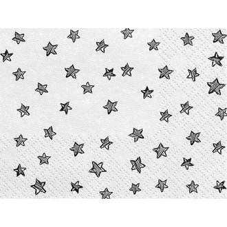 Serviettes étoiles noires