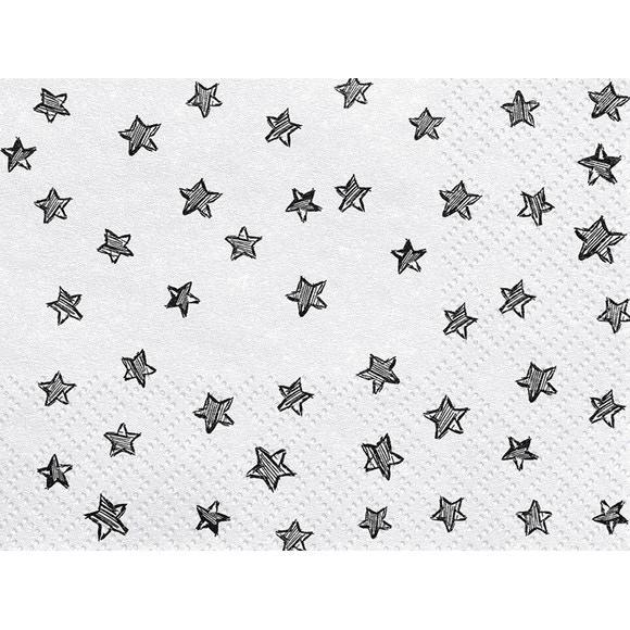 Achat en ligne Serviettes étoiles noires