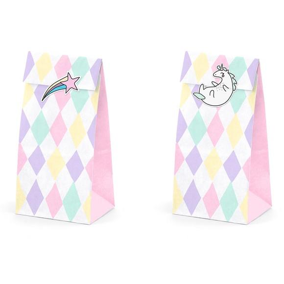 acquista online Sacchetti per caramelle unicorno con adesivi