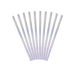 Achat en ligne 10 pailles carton iridescent bleuté 19,5cm