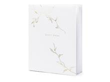 Achat en ligne Livre d'or blanc branche or guest book, 20x24,5cm 22pages