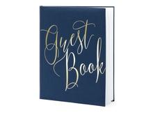 Achat en ligne Livre d'or bleu marine guest book, 20x24.5cm 22 pages