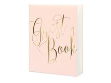Achat en ligne Livre d'or bleu rose guest book, 20x24.5cm 22 pages