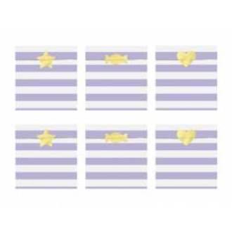 6  Sachets bonbons rayés violets