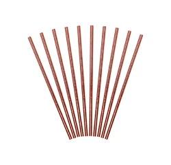 Achat en ligne 10 pailles carton iridescent cuivré 19,5cm
