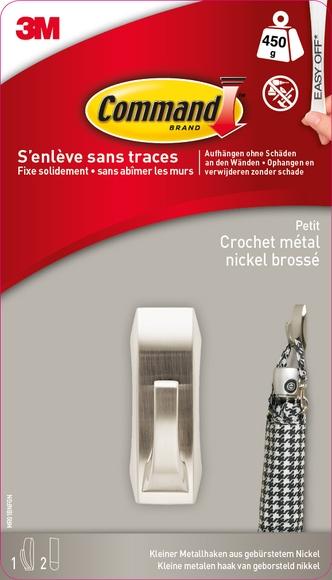 Achat en ligne Crochet métal moderne charge jusqu'à 450gr