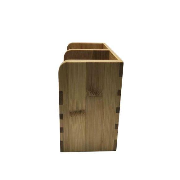Scolaposate in bambù 2 scomparti 16 x 10 x 13 cm