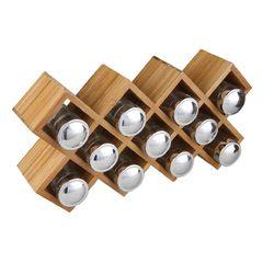 acquista online Portaspezie in bambù 11 scomparti 36,5 x 8 x 18,7cm